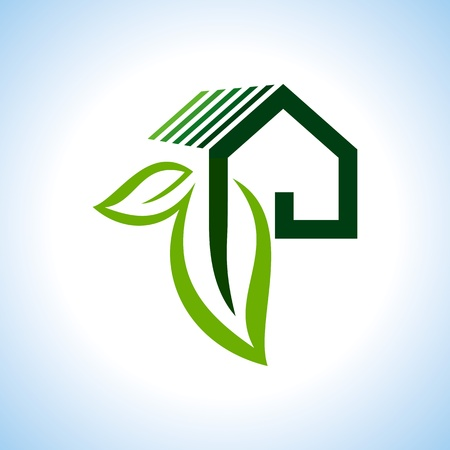 Bio eco green house icon Stock Vector - 18157328