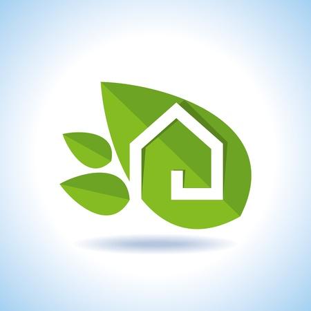 rural areas: Bio eco green house icon