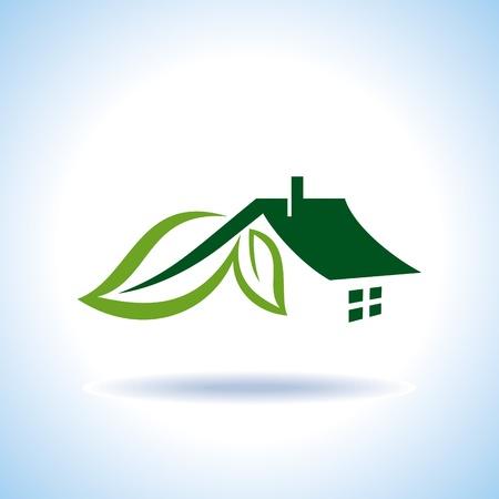 Bio eco green house icon Stock Vector - 18157313