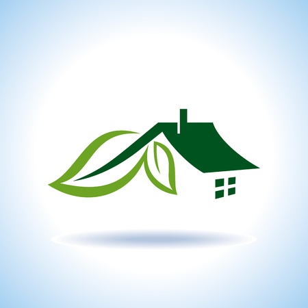 rural community: Bio eco green house icon