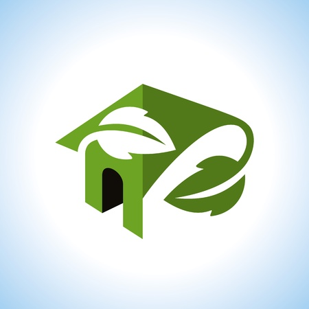 Bio eco green house icon Stock Vector - 18157311