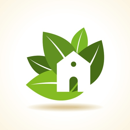 green roof: Bio eco green house icon
