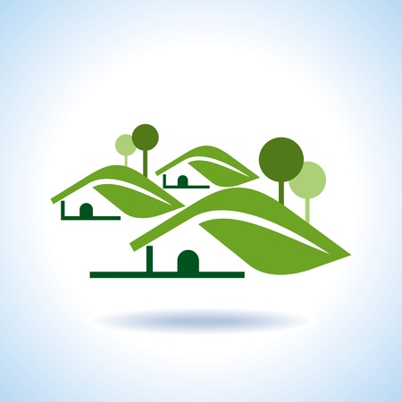 greenhouse and ecology: Bio eco green house icon