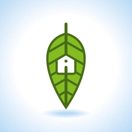 Bio eco green house icon Stock Vector - 18157312
