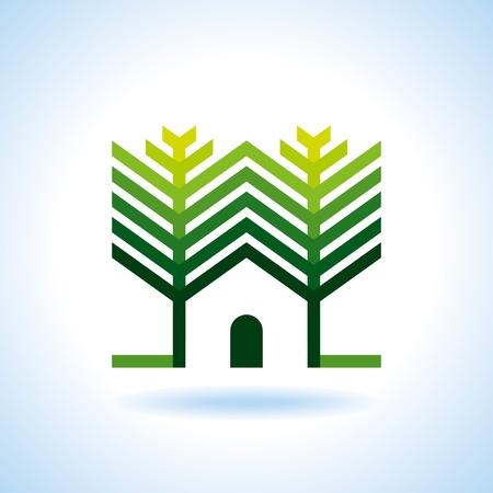 Bio eco green house icon Stock Vector - 18157319