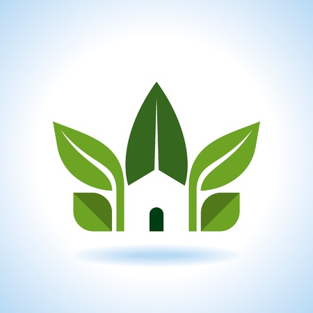 the greenhouse: Bio eco green house icon