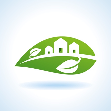 areas: Bio eco green house icon