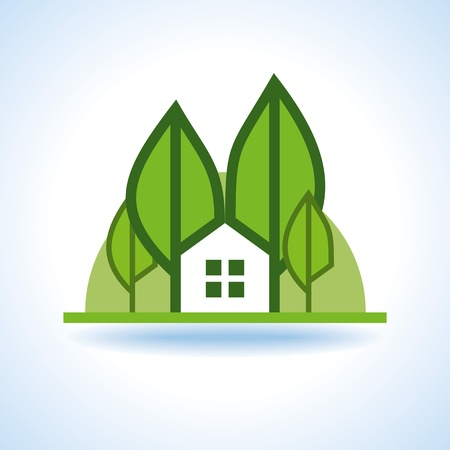 Bio green house icon Stock Vector - 18157276
