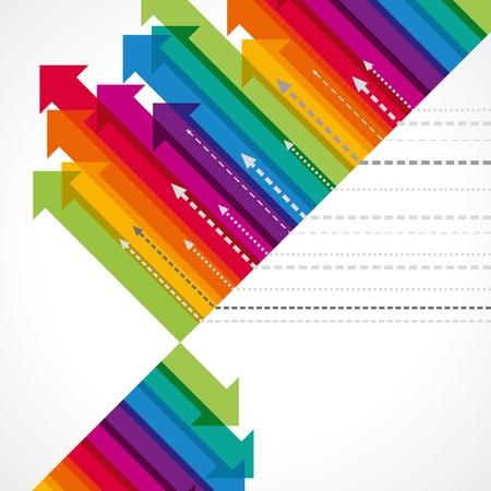 Concepto de movimiento empresarial, Arrows