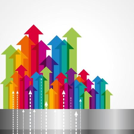 grafico vendite: Concetto di movimento commerciale, Frecce
