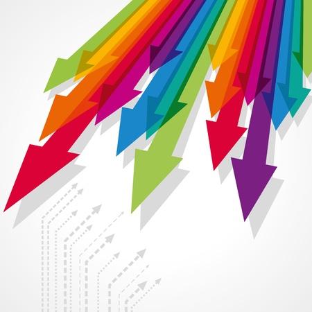 stock predictions: Concetto di movimento commerciale, Frecce