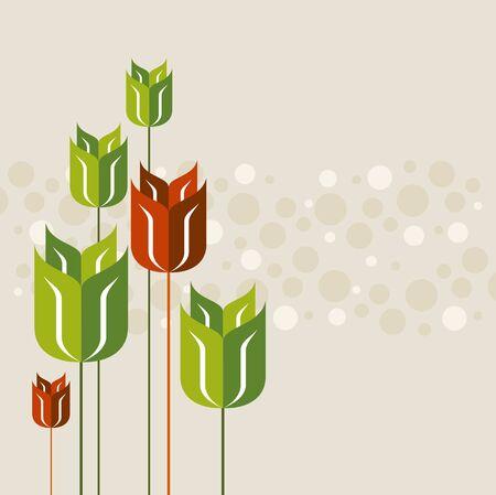springtime poppy on seamless pattern background Vector