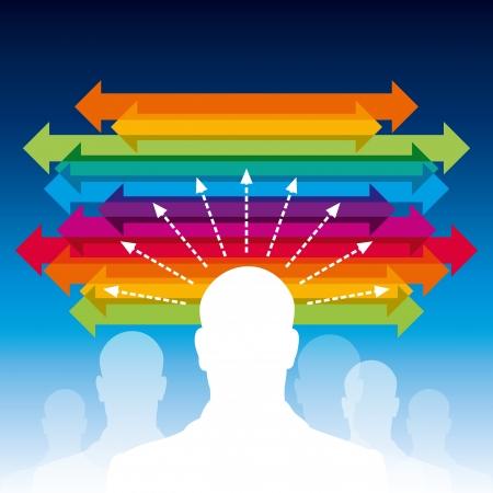 concepto de negocio flecha Ilustración de vector