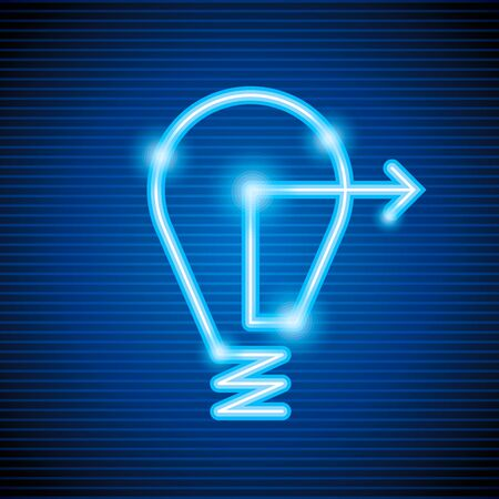 electric current: bulb arrow show different creativity Illustration