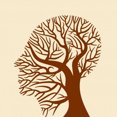 talamo: cerebro humano, los pensamientos verdes