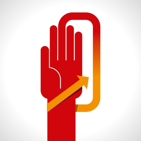 human hand with direction arrow Stock Vector - 18178050