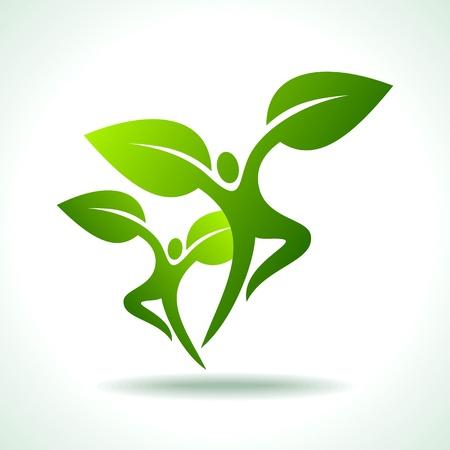 earth friendly: vector conjunto de personas ecol�gicos