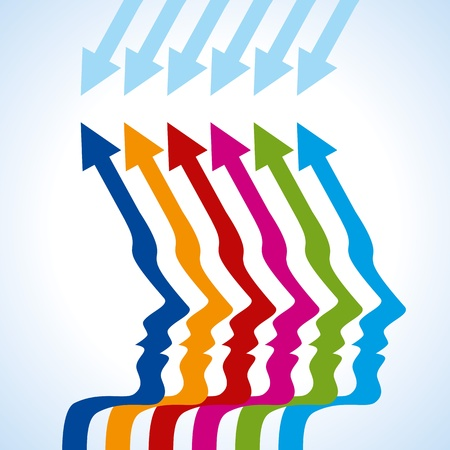 the way forward: business arrow concept