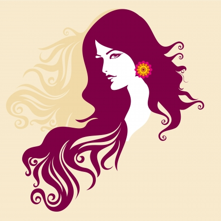 glamors: Beautiful woman silhouette