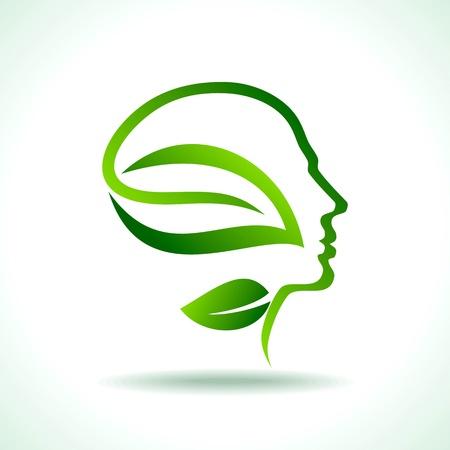 mente: pensar en verde salvar la tierra Vectores