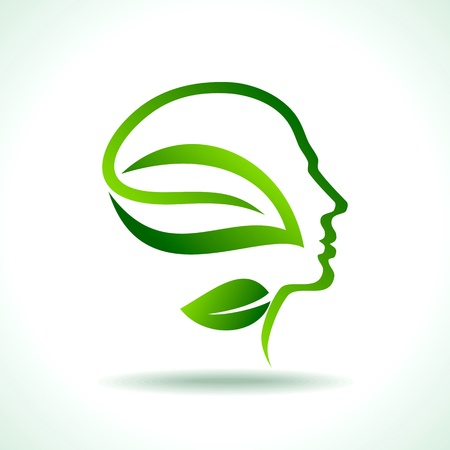 minds: think green save earth Illustration