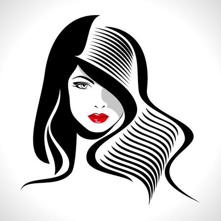 tatouage sexy: Silhouette belle femme