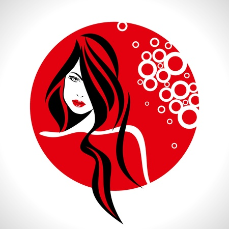 creative fashion women portrait Vector