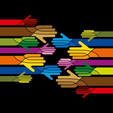 personas ayudando: concepto de unidad