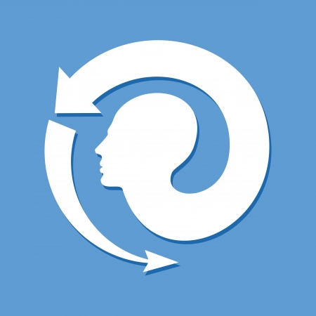 helplessness: Thoughts and options   illustration of head with arrows