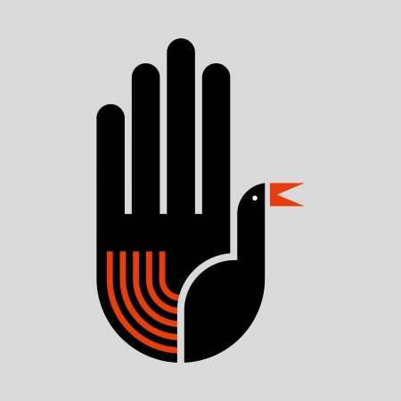 illustration of the bird in hand Stock Vector - 18210577