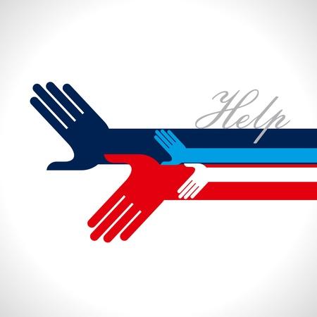 volunteer: concept of unity Illustration