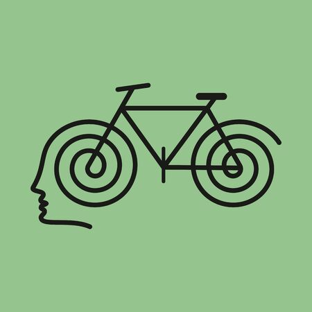 human brain with cycle Stock Vector - 18210584