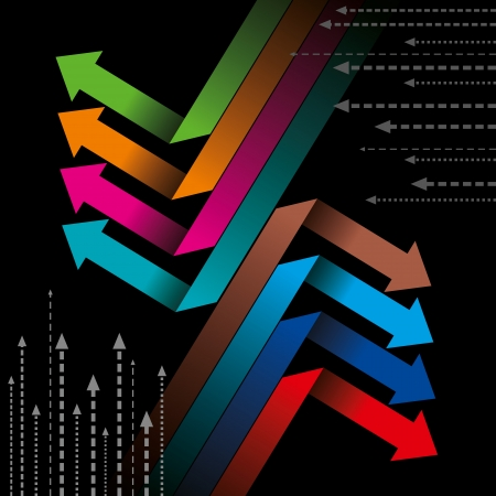gastos: Los negocios globales ilustraci�n flecha Vectores