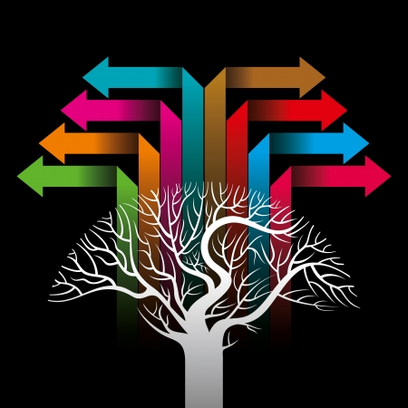colorful arrows forming a tree Stock Vector - 18210660