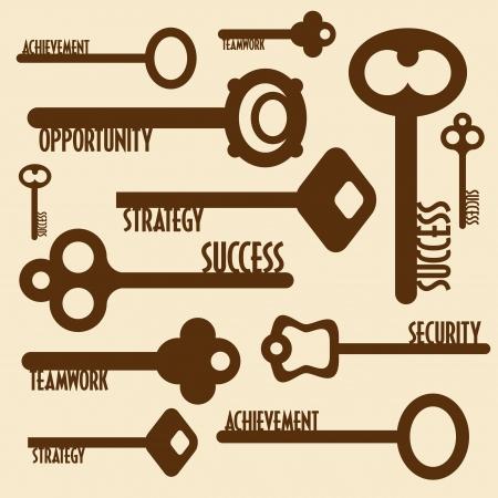 la union hace la fuerza: muchas teclas con palabras concepto de negocio,