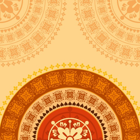 creative indian ornament background Vector