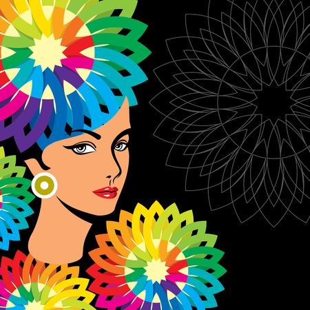 Piękna sylwetka kobiety Ilustracje wektorowe