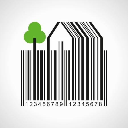 farmland: illustration of bar-code make a farmland