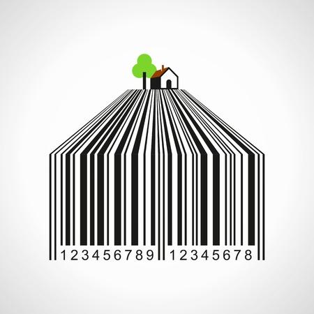 Ordinal: Illustration der Bar-Code einen Ackerland Illustration