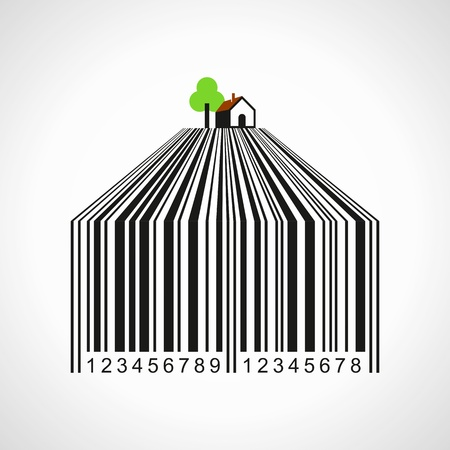 illustration of bar-code make a farmland Stock Vector - 18210622
