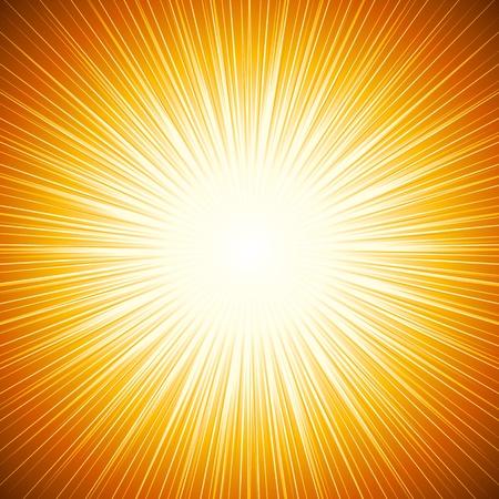 방사상: 태양 광선의 추상적 인 배경 일러스트