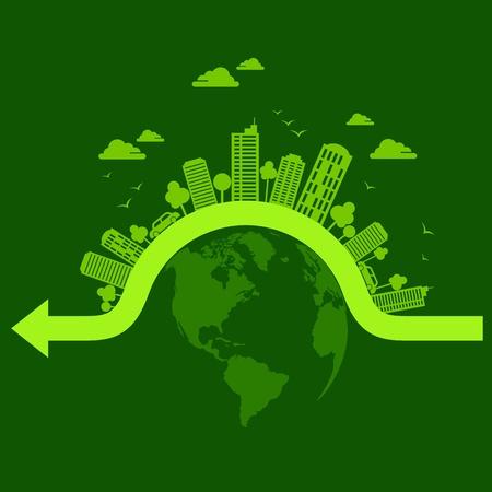 ecology concept - save earth Vector