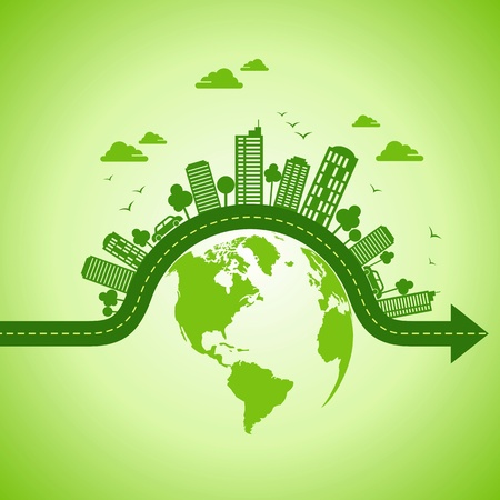 sustainable energy: ecology concept - save earth Illustration