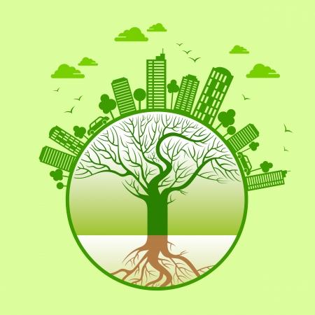kassen: ecologisch concept - sparen aarde