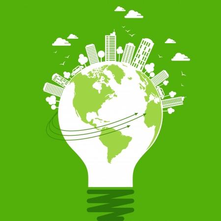 Ökologie-Konzept - save earth, Energie Illustration