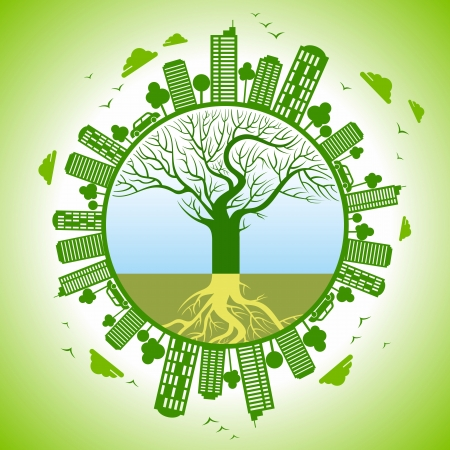 save the planet: eco friendly concept