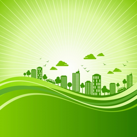 save energy: eco friendly concept