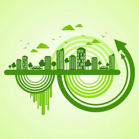 powerplant: eco-vriendelijke concept Stock Illustratie