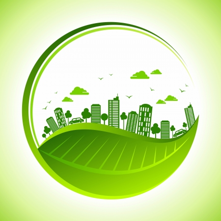 go green: eco friendly concept