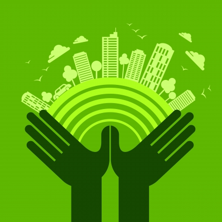 eco friendly Hand-Konzept
